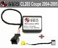 Mercedes  CL c 203 coupe  Class Front  Passenger Seat mat Occupancy Sensor, occupied recognition sensor  emulator / bypass type2